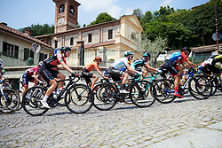 Demi Vollering (NED) and Nikola Noskova (CZE) in the bunch on Stage 2 of 2019 Giro Rosa Iccrea, an 78.3 km road race starting and finishing in Viù, Italy on July 6, 2019. Photo by Sean Robinson/velofocus.com