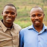 Christian Muhawenimana, Sociologist for Water For People, with Mulindwa Prosper, Deputy Mayor of Finance and Economic Development, Rulindo District, Rwanda.