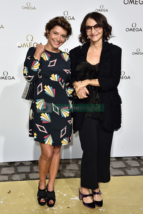 Emma de Caunes And Nathalie Rykiel attending Her Time Omega photocall as part of the Paris Fashion Week Womenswear Spring/Summer 2018 on September 29, 2017 in Paris, France. Photo by Alban Wyters/ABACAPRESS.COM