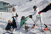 COSIMA PUCERELLI; ANUNCIATA LIECHENSTEIN;  CAROLINA GAWRONSKI; ANTONIUS FUERSTEMBERG. Children and Adult ski race in aid of the Knights of Malta,  Furtschellas. St. Moritz, Switzerland. 23 January 2009 *** Local Caption *** -DO NOT ARCHIVE-© Copyright Photograph by Dafydd Jones. 248 Clapham Rd. London SW9 0PZ. Tel 0207 820 0771. www.dafjones.com.<br /> COSIMA PUCERELLI; ANUNCIATA LIECHENSTEIN;  CAROLINA GAWRONSKI; ANTONIUS FUERSTEMBERG. Children and Adult ski race in aid of the Knights of Malta,  Furtschellas. St. Moritz, Switzerland. 23 January 2009