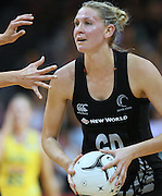 New Zealand's Casey Williams in the New World Quad series netball match, Claudelands Arena, Hamilton, New Zealand, Thursday, November 01, 2012. Credit:NINZ / Dianne Manson.