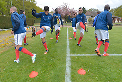 Warming up, FRA v CZE at the 2016 Football des Sourds France V Tcheque Republique, Igny,