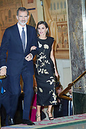 King Felipe VI of Spain, Queen Letizia of Spain attended the 'Francisco Cerecedo' journalism award to Javier Cercas at Palace Hotel on November 28, 2019 in Madrid, Spain