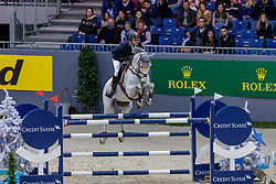 RÖTHLISBERGER Marc (SUI), Cashmere BS<br /> Genf - CHI Geneve Rolex Grand Slam 2019<br /> Prix des Communes Genevoises<br /> 2-Phasen-Springen<br /> International Jumping Competition 1m50<br /> Two Phases: A + A, Both Phases Against the Clock<br /> 13. Dezember 2019<br /> © www.sportfotos-lafrentz.de/Stefan Lafrentz