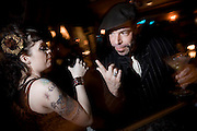 Gerenal scenes of a Psychobilly's night out on the town. Image © Angelos Giotopoulos/Falcon Photo Agency