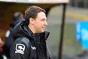 Notts County manager Jamie Fullarton during the Sky Bet League 2 match between Plymouth Argyle and Notts County at Home Park, Plymouth, England on 27 February 2016. Photo by Graham Hunt.