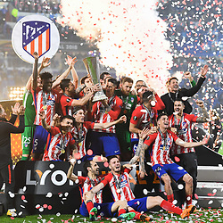 Team Atletico Madrid celebrate his victory during the Europa League Final match between Marseille and Atletico Madrid at Groupama Stadium on May 16, 2018 in Lyon, France. (Photo by Anthony Dibon/Icon Sport)