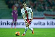 Poland's Mateusz Klich controls the ball during international friendly soccer match between Poland and Scotland at National Stadium in Warsaw on March 5, 2014.<br /> <br /> Poland, Warsaw, March 5, 2014<br /> <br /> Picture also available in RAW (NEF) or TIFF format on special request.<br /> <br /> For editorial use only. Any commercial or promotional use requires permission.<br /> <br /> Mandatory credit:<br /> Photo by © Adam Nurkiewicz / Mediasport