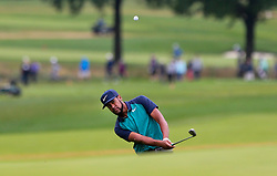 September 10, 2018 - Newtown Square, Pennsylvania, United States - Tony Finau chips on to the 16th green during the final round of the 2018 BMW Championship. (Credit Image: © Debby Wong/ZUMA Wire)