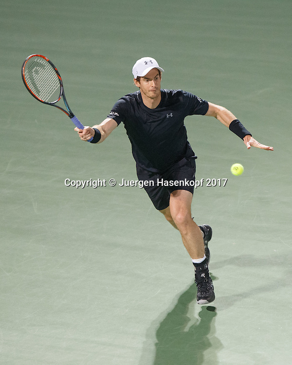ANDY MURRAY (GBR)<br /> <br /> Tennis - Dubai Duty Free Tennis Championships - ATP -  Dubai Duty Free Tennis Stadium - Dubai -  - United Arab Emirates  - 2 March 2017. <br /> &copy; Juergen Hasenkopf