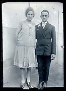 portrait of a couple France ca 1920s