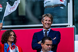 14-08-2018 NED: Champions League AFC Ajax - Standard de Liege, Amsterdam<br /> Third Qualifying Round,  3-0 victory Ajax during the UEFA Champions League match between Ajax v Standard Luik at the Johan Cruijff Arena / Annemarie van Kesteren, Edwin van der Sar