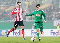 08.12.2016, Weststadion, Wien, AUT, UEFA EL, SK Rapid Wien vs Athletic Club Bilbao, Gruppe F, im Bild Mikel Vesga (Athletic Club Bilbao), Philipp Malicsek (SK Rapid Wien) // during a UEFA Europa League, group F game between SK Rapid Wien and Athletic Club Bilbao at the Weststadion, Vienna, Austria on 2016/12/08. EXPA Pictures © 2016, PhotoCredit: EXPA/ Sebastian Pucher