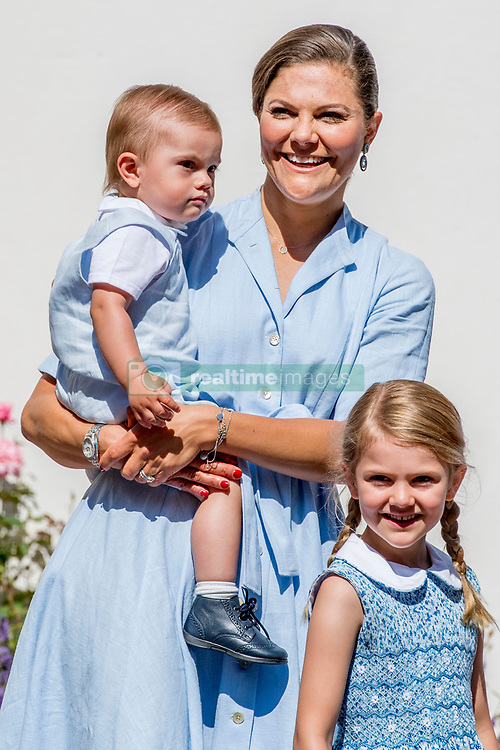 Princess Victoria with children Princess Estelle, Prince Oscar during the traditionally celebration of Crown Princess Victoria's birthday at the royal family's summer residence, Solliden Palace in Borgholm, Öland, Sweden, on July 15, 2017, a day later Stockholm celebration. Photo by Robin Utrecht/ABACAPRESS.COM