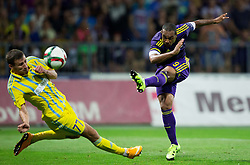 Dmitri Shomko of Astana vs Marcos Tavares #9 of Maribor during First Leg football match between NK Maribor and FC Astana in Second qualifying round of UEFA Champions League, on July 14, 2015 in Stadium Ljudski vrt, Maribor, Slovenia. Photo by Vid Ponikvar / Sportida