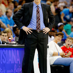 Apr 14, 2013; New Orleans, LA, USA; Dallas Mavericks head coach Rick Carlisle against the New Orleans Hornets during the second half of a game at the New Orleans Arena. The Mavericks defeated the Hornets 107-89. Mandatory Credit: Derick E. Hingle-USA TODAY Sports