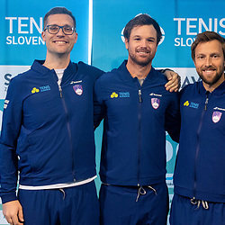 20200227: SLO, Tennis - Press conference of Slovenian Davis Cup team