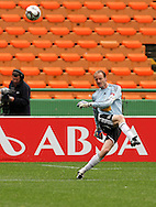 HANS VONK clears the ball during the PSL match between Ajax Cape Town and Bidvest Wits held at Newlands Stadium in Cape Town on 13 September2009 ..Photo by Shaun Roy/www.sportzpics.net.+27 21 785 6814..
