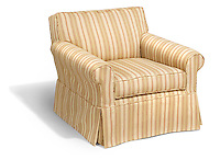 striped reading chair