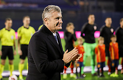 Davor Suker, president of the Croatian Football Federation prior to the UEFA Nations League football match between Croatia and Spain, on November 15, 2018, at the Maksimir Stadium in Zagreb, Croatia. Photo by Morgan Kristan / Sportida