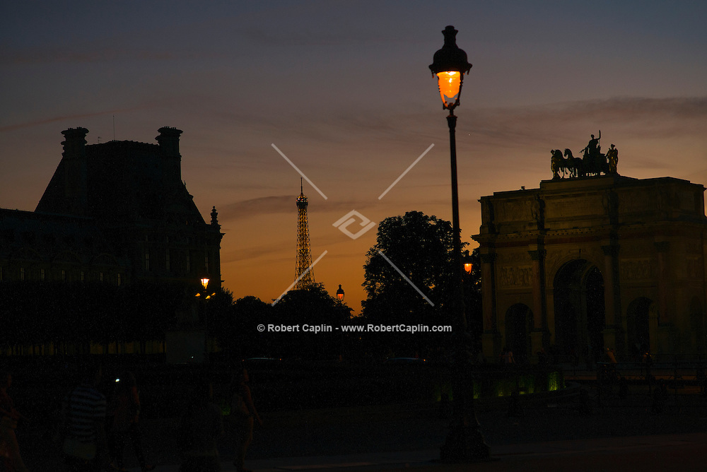 View of the Eiffel Tower from the Louvre Museum, Paris, France<br /> <br /> (Photo by Robert Caplin)