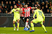 Barcelona player Jordi Alba and PSV player Gaston Pereiro during the UEFA Champions League, Group B football match between PSV Eindhoven and FC Barcelona on November 28, 2018 at Philips Stadium in Eindhoven, Netherlands - Photo Thomas Bakker / Pro Shots / ProSportsImages / DPPI