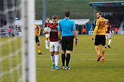 Sam Hoskins gets ready to take a penalty during the EFL Sky Bet League 2 match between Northampton Town and Crewe Alexandra at the PTS Academy Stadium, Northampton, England on 16 November 2019.