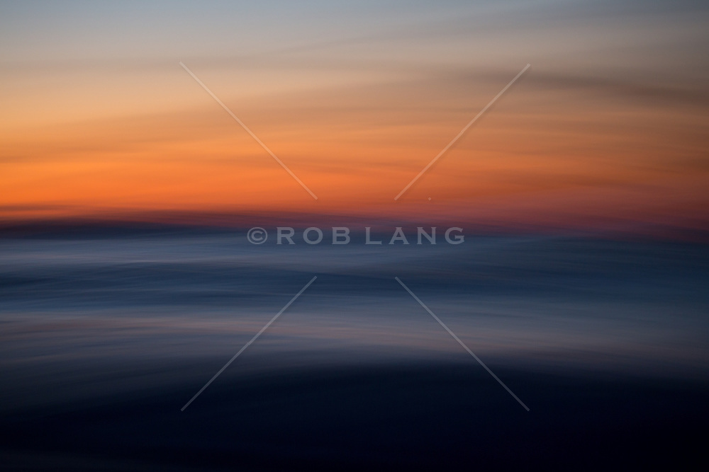 abstract of the ocean in East Hampton at sunrise