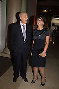 DAVID ELIAS; HOMA ELIAS, Action Against Cancer 'A Voyage of Discovery' fundraising dinner at the Science Museum on Wednesday 14 October 2015.