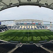 June 03, 2014: A general view of PPL Park during the match between The National teams of Greece and Nigeria- World Cup send off match at PPL Park - Chester, PA.  Greece and Nigeria finished at a 0-0 draw.Mandatory Credit: Kostas Lymperopoulos/Cal Sport Media  (Credit Image: © Kostas Lymperopoulos/ Cal Sport Media)
