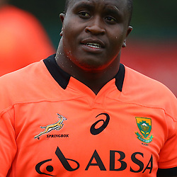 DURBAN, SOUTH AFRICA - SEPTEMBER 01: Trevor Nyakane during the South African national rugby team training session at Peoples Park on September 01, 2015 in Durban, South Africa. (Photo by Steve Haag/Gallo Images)