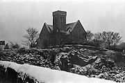 13/01/1963<br /> 01/13/1963<br /> 13 January 1963<br /> Snow scenes from Kiliney and Dun Laoghaire, Co. Dublin. View of St. Patrick's Church, Dalkey.