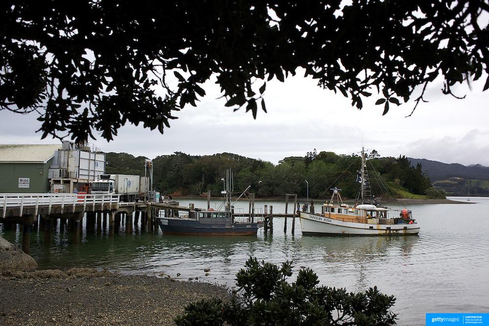 The fish docks at Mangonui village, Northland, New Zealand Zealand,  2010 20th November 2010. Photo Tim Clayton.