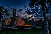 Castillo de San Marcos at dusk overlooking Matanzas Bay