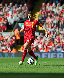 LIVERPOOL, ENGLAND - Sunday, May 19, 2013: Liverpool's Fabio Borini in action against Queens Park Rangers during the final Premiership match of the 2012/13 season at Anfield. (Pic by David Rawcliffe/Propaganda)