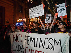 October 1, 2018 - Manhattan, New York, U.S - Protesters marched to the Yale Club in New York, before marching to Grand Central station as they called for Judge Brett Kavanaugh's nomination to the Supreme Court to be withdrawn. (Credit Image: © Nancy Siesel/ZUMA Wire)