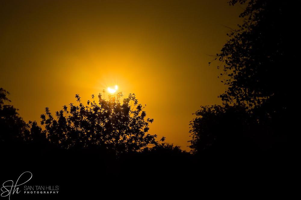 Eclipse seen from San Tan Valley, AZ