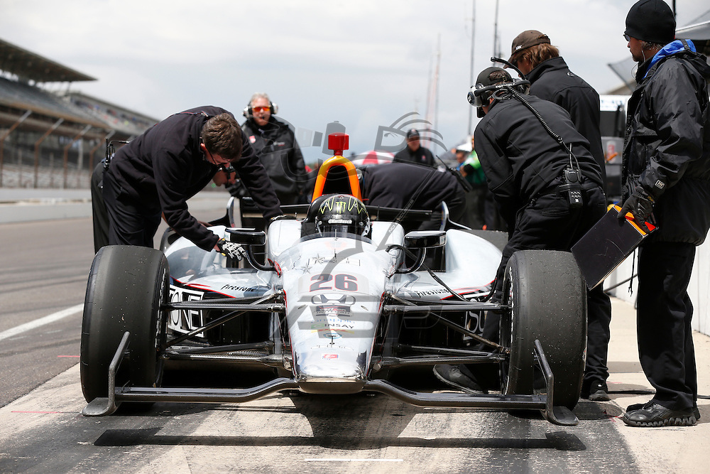indianapolis, IN - May 16, 2014:  Kurt Busch (26) practices the Suretone Honda during a practice session for the Indianapolis 500 at Indianapolis Motor Speedway in indianapolis, IN.