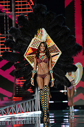 Cindy Bruna on the catwalk for the Victoria's Secret Fashion Show at the Mercedes-Benz Arena in Shanghai, China.