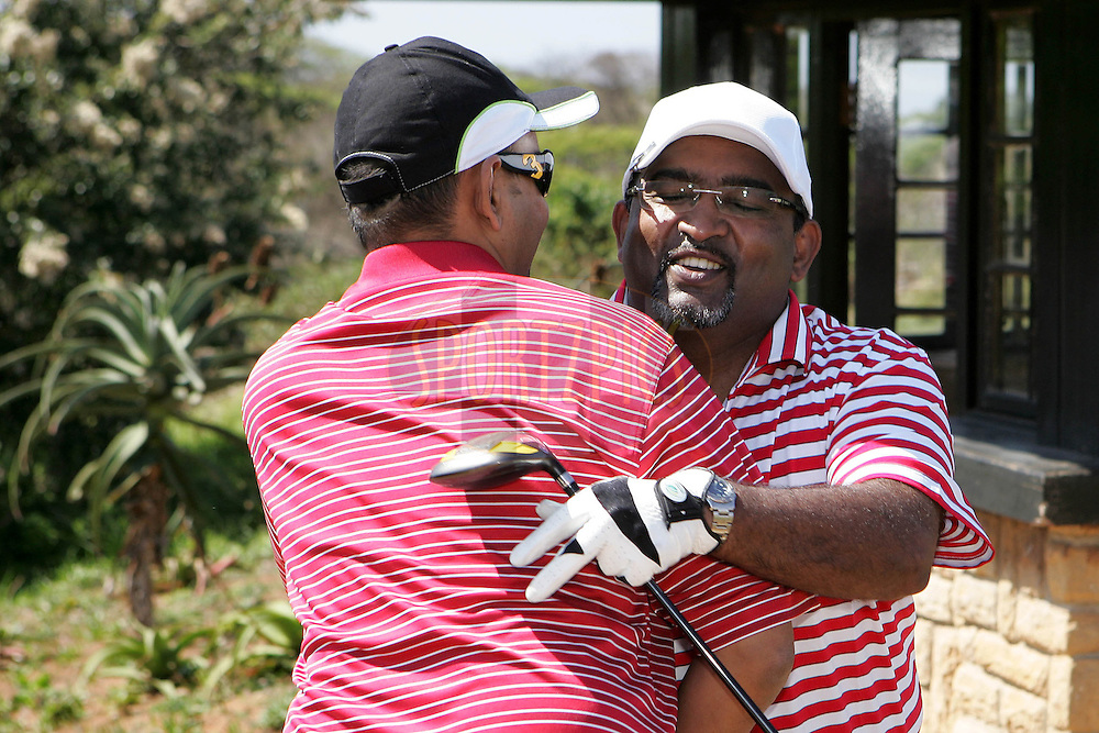 Sundar Raman and Jesse Chellan during the Airtel CLT20 golf day held at Zimbali Country Estate outside Durban in Kwa Zulu Natal on the 23 September 2010..Photo by: Ron Gaunt/SPORTZPICS/CLT20