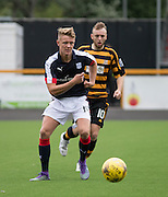 Dundee&rsquo;s Mark O&rsquo;Hara races away from Alloa Athletic&rsquo;s Greig Spence - Alloa Athletic v Dundee, pre-season friendly at Recreation Park, Alloa<br /> <br />  - &copy; David Young - www.davidyoungphoto.co.uk - email: davidyoungphoto@gmail.com