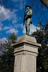 A statue of a Confederate soldier sits in front of the Albemarle County Courthouse in Historic Court Square, Charlottesville, Virginia February 19, 2008.