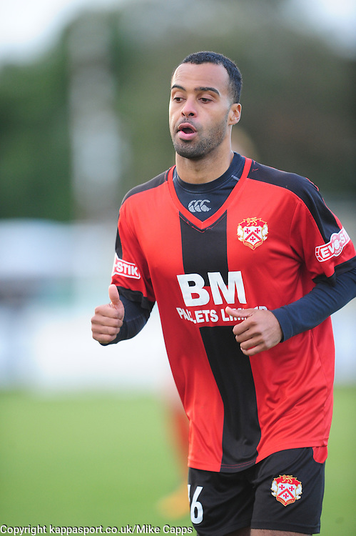 SPENCER WEIR-DALEY KETTERING TOWN, Kettering Town v Weymouth, Evostick Southern League Premier, Latimer Park Saturday 22nd October 2016<br /> Score 3-1