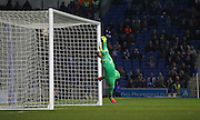AFC Bournemouth striker Yann Kermorgant puts Bournemouth 1-0 up during the Sky Bet Championship match between Brighton and Hove Albion and Bournemouth at the American Express Community Stadium, Brighton and Hove, England on 10 April 2015. Photo by Phil Duncan.