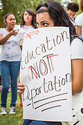 23 APRIL 2012 - PHOENIX, AZ:   A high school student at the Arizona State Capitol in Phoenix Monday. About 200 high school students from across the Phoenix metropolitan area rallied at the Arizona state capitol in Phoenix Monday to show their opposition to Arizona's tough anti-immigration law, SB 1070. April 23 is the 2nd anniversary of the law's signing. The US Supreme Court is taking up the law during a hearing Wednesday, April 25 in Washington DC.     PHOTO BY JACK KURTZ