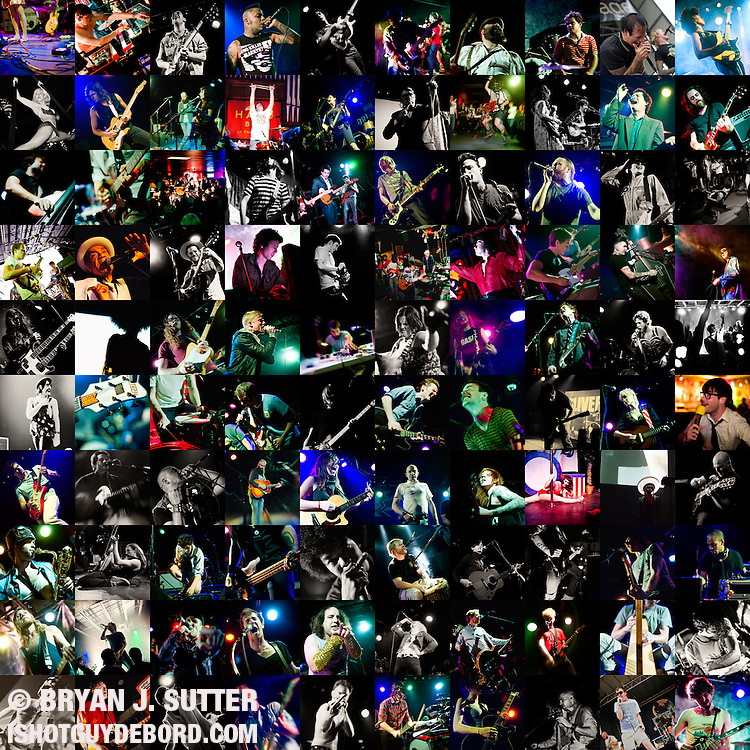 A collage of just about every show I've shot since early 2009.