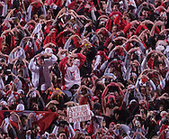 MORNING JOURNAL/DAVID RICHARD&amp;#xA;Buckeyes' fans after the game on the field.<br />
