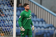York City goalkeeper Scott Flinders  during the Sky Bet League 2 match between Mansfield Town and York City at the One Call Stadium, Mansfield, England on 28 December 2015. Photo by Simon Davies.