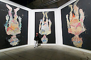 56th Art Biennale in Venice - All The World's Futures.<br /> Arsenale.<br /> Georg Baselitz with some of his paintings from 2014.