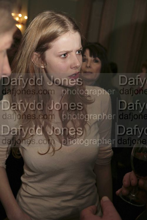 RACHEL HURD-WOOD, PARTY AT DARTMOUTH HOUSE AFTER A PREMIERE SCREENING OF PERFUME AT THE CURZON. LONDON.<br />